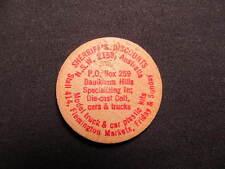 N.S.W. 2159, Australia Wooden Nickel token - Sherriff's Discounts Wooden coin