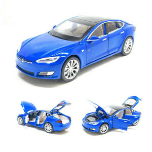 Tesla Model S 100D 1:32 Diecast Model Car Toy Collection Luminous Pullback Gift