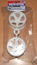 Tamiya 54676 GF-01 White 5-Spoke Wheels (GF01/Land Cruiser 40/Vajra), NIP