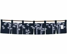 "Japanese Indigo Noren Curtain Tapestry 6-Panel Sushi Bar Bamboo/47""W/ Made Japan"