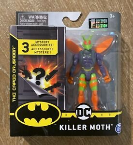 """DC SPIN MASTER KILLER MOTH 4"""" FIGURE BATMAN CAPED CRUSAGER 1ST EDITION 2020 NEW"""