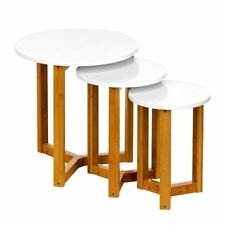 Solid Wood Round Nested Tables