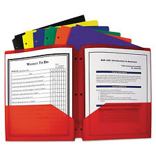C-Line Two-Pocket Heavyweight Poly Portfolio Folder w/3-Hole Punch Letter