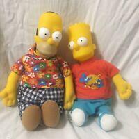Homer Sipmson Bart Simpson Plush Doll Toy With Plastic Head Matt Groening