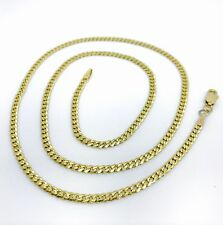 14k YELLOW GOLD CUBAN LINK Made In ITALY CHAIN 20''