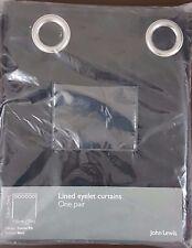 John Lewis Cotton Rib Lined Eyelet Curtain W150cm x L136cm