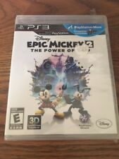 Factory Sealed Epic Mickey 2 The Power of two PS3 NTSC-U/C Free Shipping