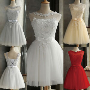 Women Lace Formal Evening Bridesmaid Dresses Cocktail Party Ball Prom Gown Dress