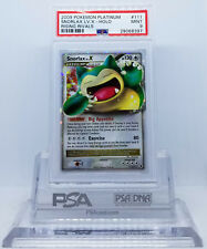Pokemon PLATINUM RISING RIVALS SNORLAX LV X #111 HOLO FOIL CARD PSA 9 MINT #*