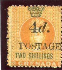 Grenada 1888 QV 4d on 2s orange & green MLH. SG 42. Sc 32a.