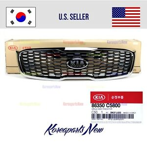 Front Bumper Grille Chrome ⭐GENUINE⭐ fits Kia Sorento 2019-2020 Without Camera