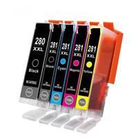 5PK PGI280 XXL CLI-281 XXL Ink for Canon PIXMA TS6120 TS6220 TS8120 TS9120