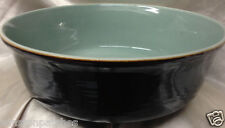 "RED WING POTTERY VILLAGE GREEN INSIDE 12"" SALAD SERVING BOWL BROWN OUTSIDE 4 QT"