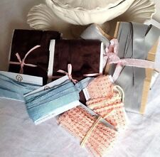 Vintage Grey Blue Brown Ribbon Tapes & Pink Lace 20m Millinery & Furnishings NOS