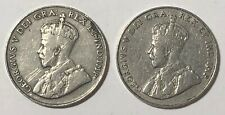 1923 ~ CANADA ~ 5 CENTS ~ GEORGE V ~ VG10 condition