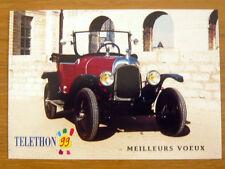 """CITROËN 5 CV """"TORPEDO"""" 1923 téléthon 1999 Carte de Voeux CP Automobile ancêtre"""