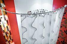 aluminium barre en arc asymétrique 105X150 cm d'angle Rideau de douche ovale