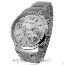 *NEW* MENS EMPORIO ARMANI CHRONOGRAPH SILVER WATCH - AR2458 - RRP £299.00