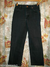 Wrangler Black Jeans 100% Cotton USA Size 28 by 26 Been hemmed