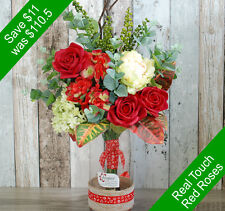 Artificial Flowers- Wonderful Red Arrangement - for Home Decor or Gifting