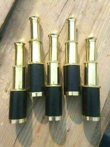Nautical Brass Telescope Vintage Marine Spyglass Telescope Lot Of 5 Piece