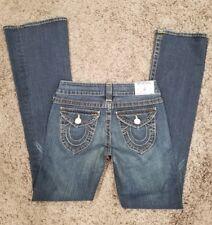 TRUE RELIGION Becky Stretch Women's Jeans Sz 27 Inseam 32 Dark wash