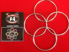 """Nuclear Fusion - Chinese Linking Rings - Set of 4, 4"""" Magic Trick"""