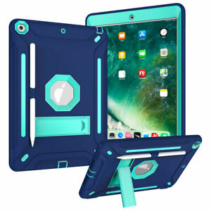 """For iPad 8th Generation 10.2"""" 2020 Heavy Duty Stand Armor Case With Pencil Slot"""