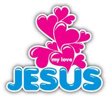 Jesus My Love Car Bumper Sticker Decal 5'' x 4''