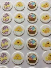 Easter Chick and Eggs Edible Sugarette Cupcake Toppers pack of 12