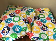 Mickey Mouse Disney Crib Sheet Set Colorful Gears Fitted Flat Baby Nursery