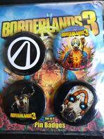 Borderlands 3 Badges. Juego De 4 Nuevo en Caja