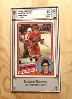 STEVE YZERMAN ROOKIE CARD GEM MINT 10 1984 DETROIT RED WINGS TOPPS!!