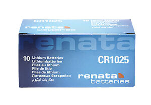 10 x Renata CR1025 Batteries, Lithium Battery 1025 | Shipped from Canada