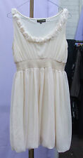 Angeleye femme/filles enchanteur sheer cream robe roses encolure ronde uk sz 10