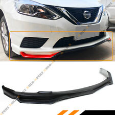 FOR 2016-2018 NISSAN SENTRA 4DR SEDAN JDM FRONT BUMPER LIP SPOILER SPLITTER