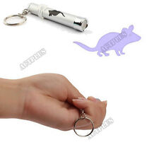 1PCS Mouse LED Light Laser Pointer Bright Animation Key Chain Funny Pet Toys ACT
