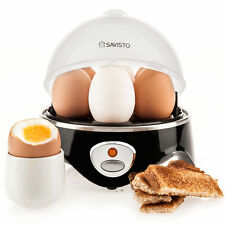 Savisto 360W Electric Egg Boiler Cooker with Poacher Steamer and Omelette Maker
