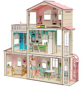 Barbie Dollhouse Scale 1:6   Dollhouse miniature   DIY Dollhouse kit