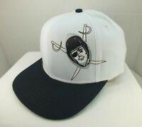 Los Angeles Raiders Snapback Hat NFL Football Retro White Ball Cap NEW By Reebok