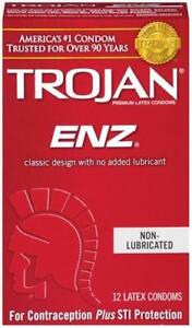 Trojan Enz Non-Lubricated Condoms - Pack
