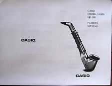 Owner's User's Operating Manual for the Casio DH-100 Digital Horn
