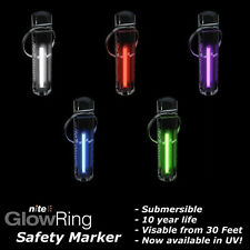 Nite GlowRing Glow in the Dark Keyring Safety Marker Long Life FREE UK DELIVERY