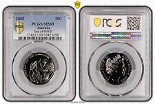 2005 Australia Twenty Cent, 20c End of WWII PCGS - MS69 -698 D7-215