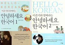 Hello Korean Learn Book Vol 1 + Vol 2 + Vol 3 (3 pcs) English Ed w/ LEE JOON GI