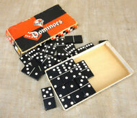 TOP GRADE Dominoes Double Six Set of 28 Black Original Damage Box