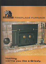 Grizzly Fireplace Furnace Brochure 1970s Home Heating