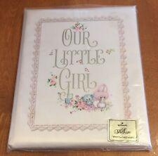 Vintage Hallmark Our Little Girl Baby Album Keepsake Book New