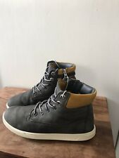 timberland boots size 5 Uk  38 Eu in blue suede + grey ankle trim GC