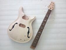Unfinished Strong Guitar Body and 24  fret  neck Replacement PRS style parts